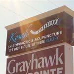 Kosak Chiropractic & Acupuncture roadside sign
